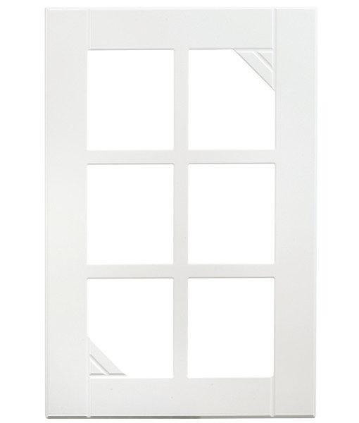 vitrin spröjs vit diagonalen kökslucka