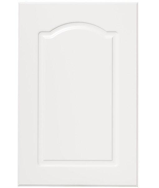 lackerad bågen vit kökslucka