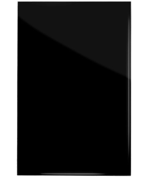 högblank svart rak kant kökslucka