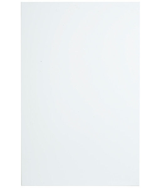 högblank ren vit rak kant kökslucka